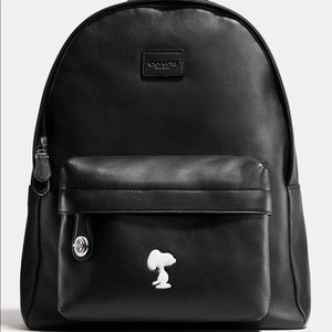 Coach x snoopy limited edition leather backpack